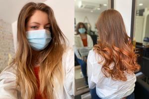 boucles cuivrées différence coiffure
