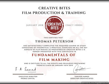 10 Weeks course in Film Making-Optimized