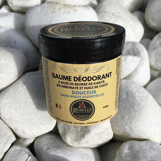Baume déodorant - douceur sans huile essentielle (60ml)