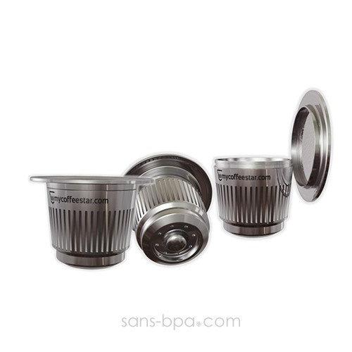 Capsule en inox pour machine Nespresso