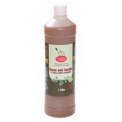 Savon noir liquide à l'huile d'olive bio - 1L