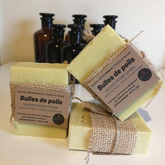 Bulles de poils - savon pour chien (pas pour chat)