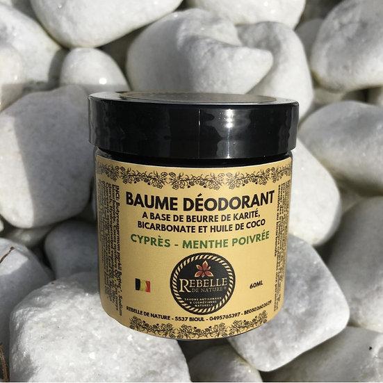 Baume déodorant - cyprès / menthe poivrée (60ml)