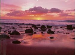 Sunset over Kapalua Lava