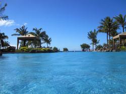 The nearest of three pools