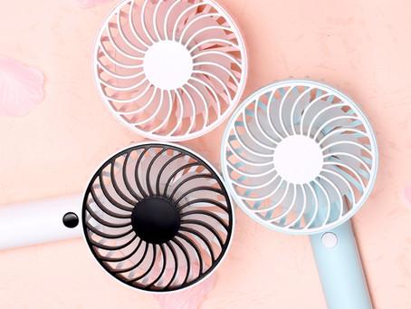 コンパクト扇風機パッケージデザイン(ケース、取扱説明書)