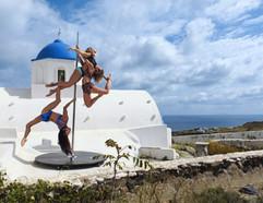 Pole camp Santorini