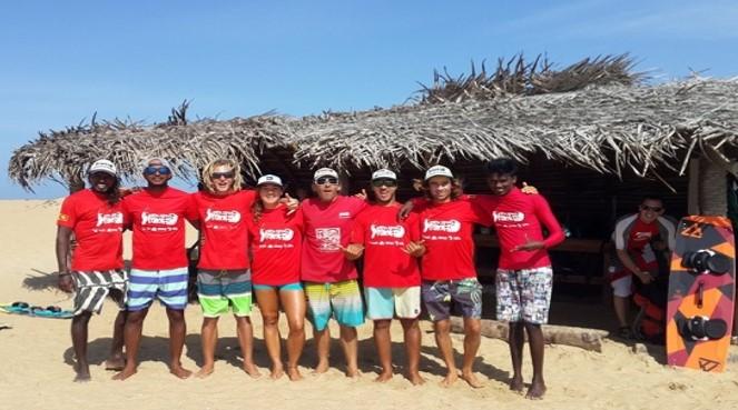 Kitesurfing Lanka team
