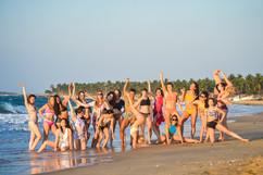 Pole camp on the beach