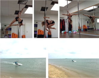 Pole dancing and kitesurfing, isn't it a weird combination?