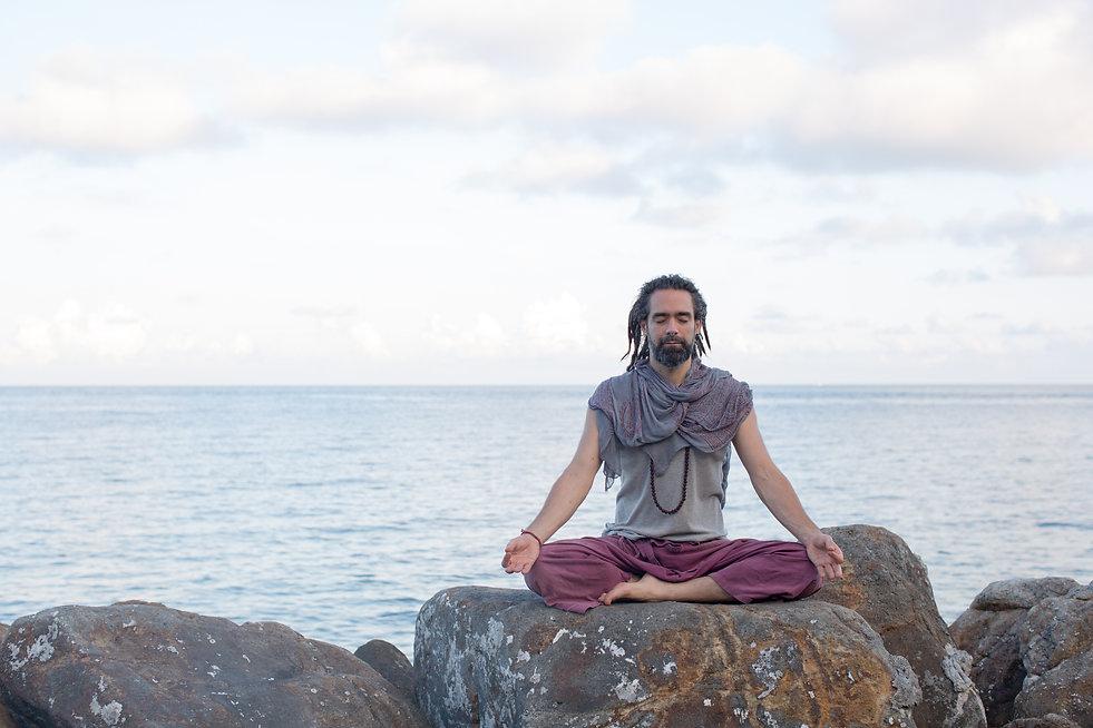JF meditation on rock Jnana M - RR.jpg