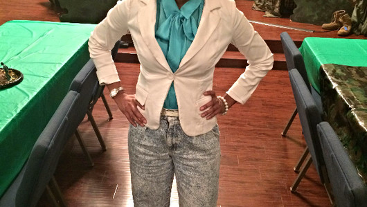 TBT: Bow Tie Blouse & Vintage Denim