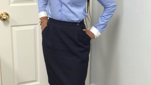 Blues, A Business Casual-OOTD