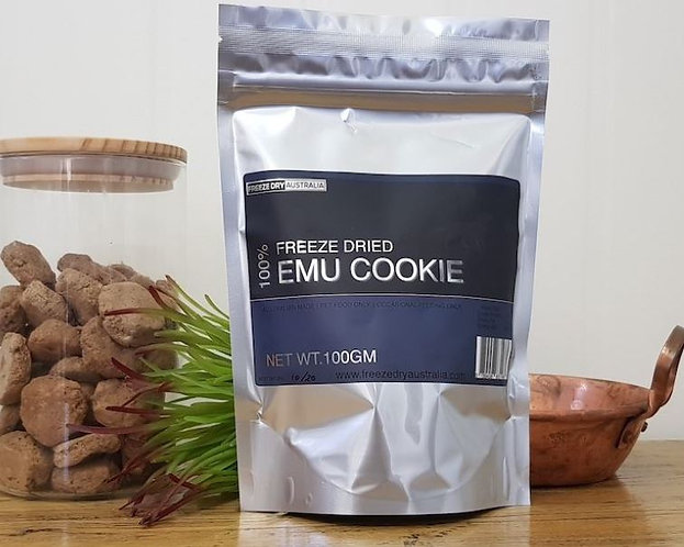 Life On The Hedge | Freeze Dried Emu 'Cookies' in Packaging