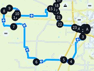 Audax No. 14: Itinerary