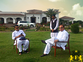 Major Fazal Akram at Farmhouse in Islamabad