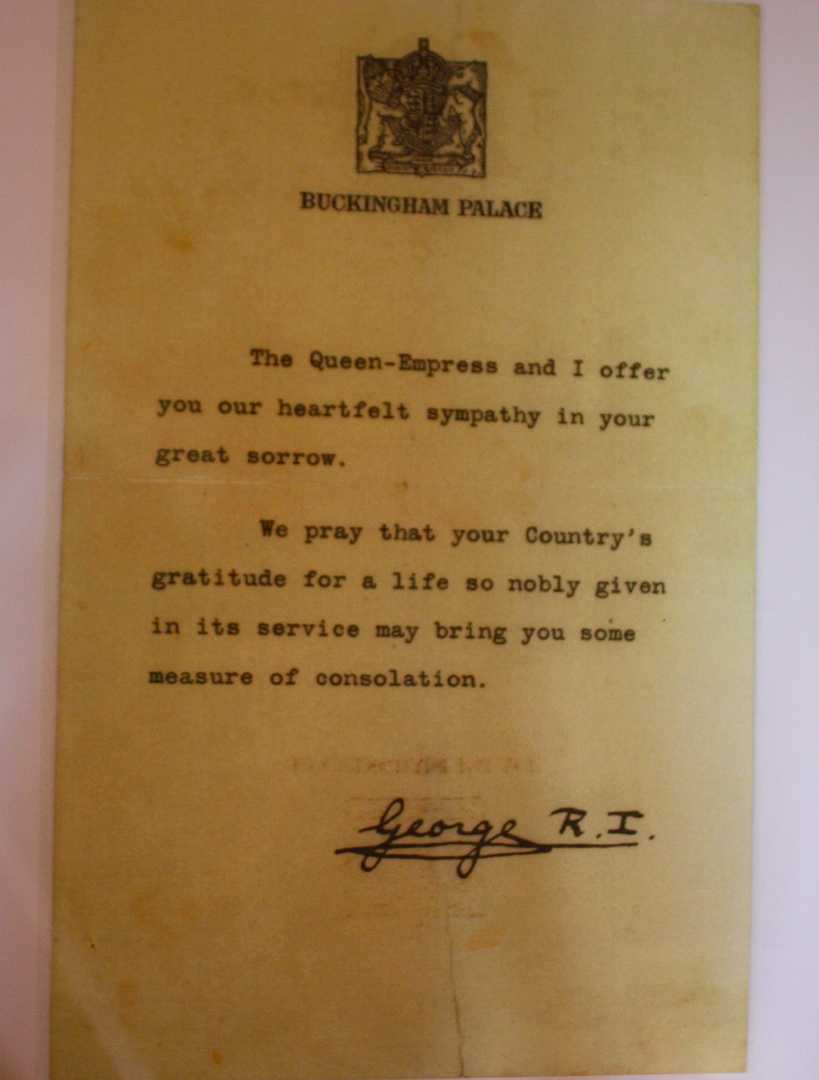 Personal Letter from King George
