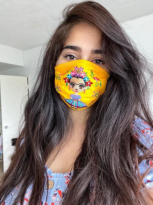 Yellow Frida Mask