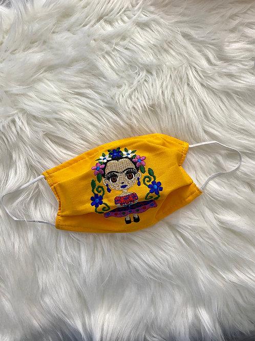 Yellow Frida face mask
