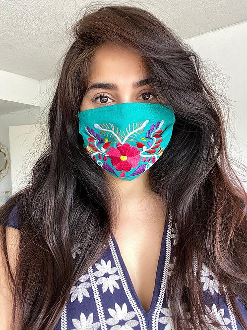 TEAL face mask (FLORAL)