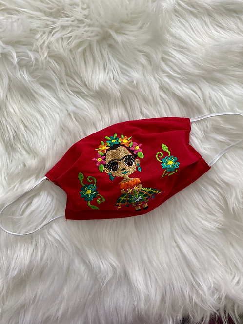 Red FRIDA  face mask