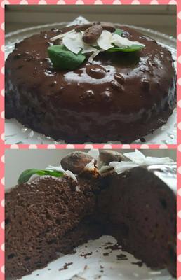 Čokoládový dort bez cukru a mouky - recept