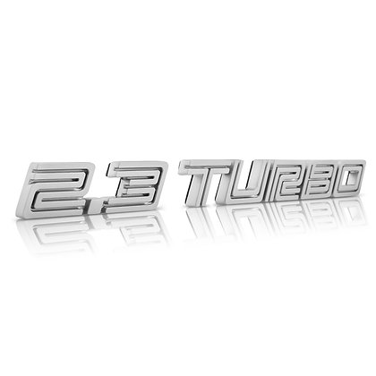 2.3 TURBO Emblem Badge