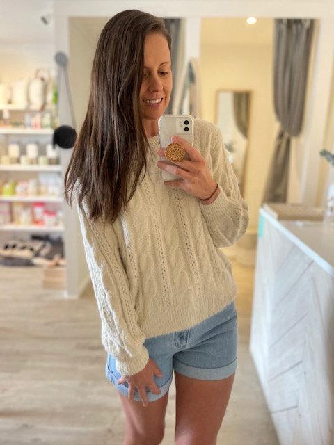 Ava Knit | Cream