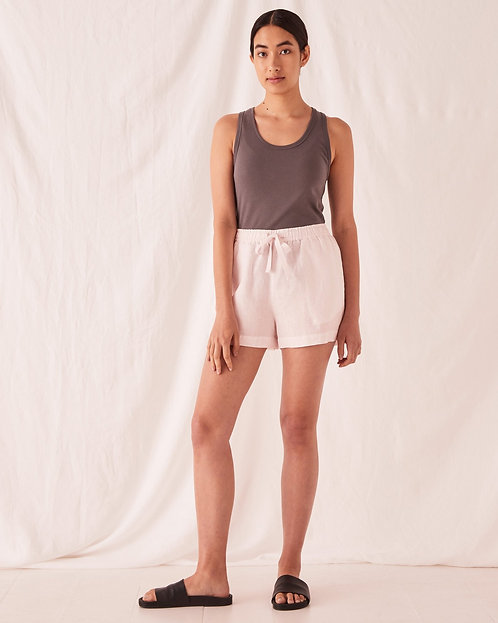 ASSEMBLY LABEL | Anika Linen Shorts | Pink Dew