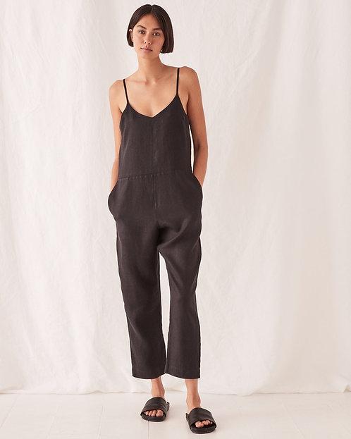 ASSEMBLY LABEL   Linen Jumpsuit   Black