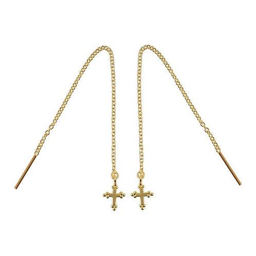 MIDSUMMER STAR | Gold Cross Threaders