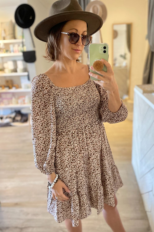 Ebony Dress | Chocolate Floral