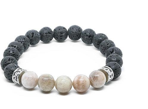 HEADLESS NATION | Sun Stone & Lava Stone Bracelet