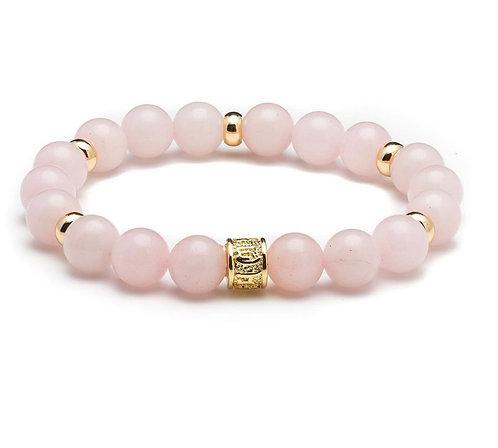 HEADLESS NATION | Rose Quartz & Gold Bracelet