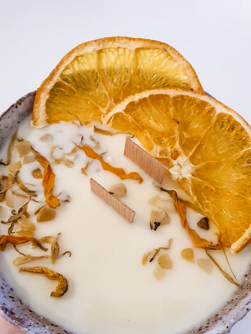 THE CLAY SOCIETY | Earth Bowl Candles | BALANCE (Lemongrass & Sweet Orange)