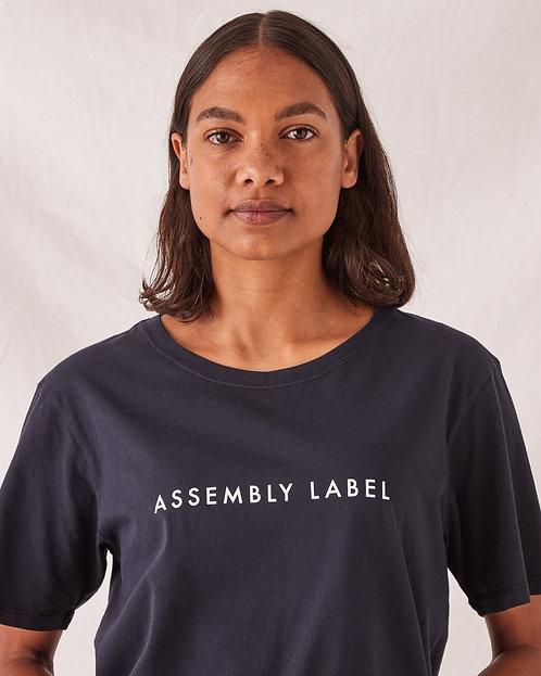 ASSEMBLY LABEL | Logo Crew Tee | True Navy