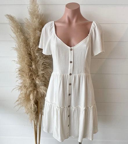 Santorini Dress   White