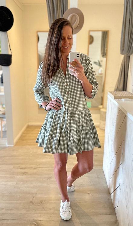 Ellie Dress | Sage Gingham