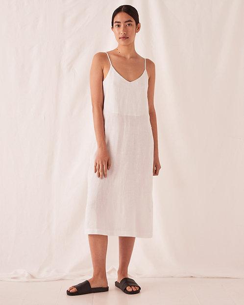 ASSEMBLY LABEL | Linen Slip Dress | Silver Grey