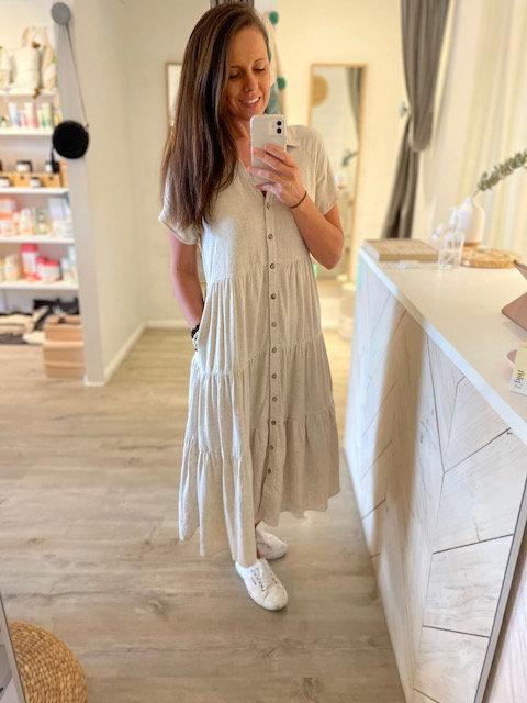 Audrey Linen Dress | Natural