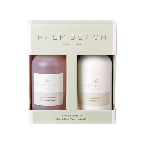 PALM BEACH COLLECTION | Clove and Sandalwood Body Wash & Lotion Gift Set