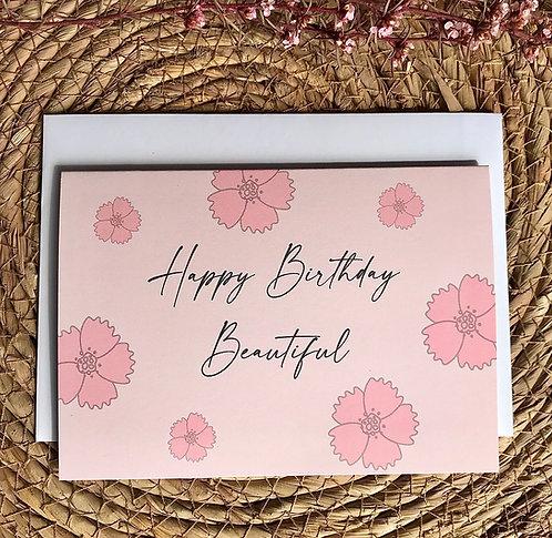 Gift Card | Happy Birthday Beautiful