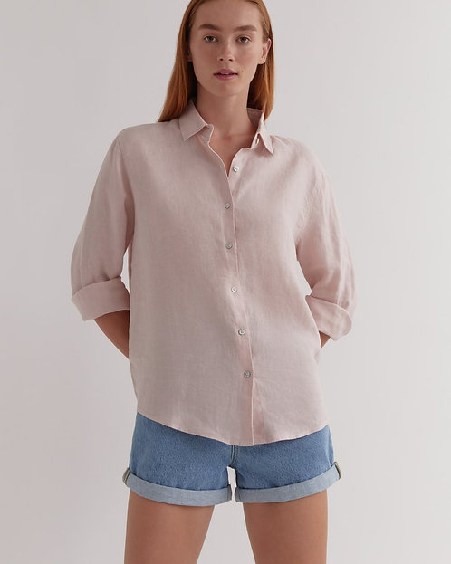ASSEMBLY LABEL | Xander Long Sleeve Shirt | Pink Clay