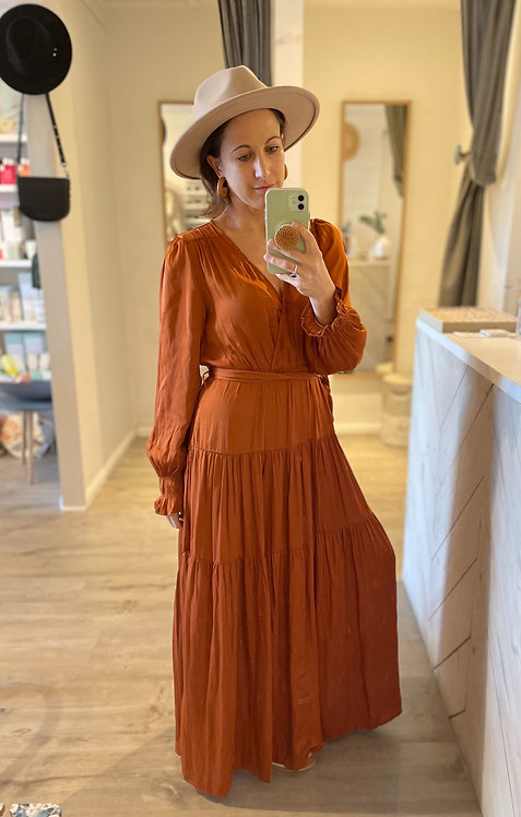 Simone Dress | Rust