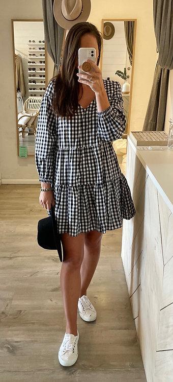 Emma Dress | Black Gingham