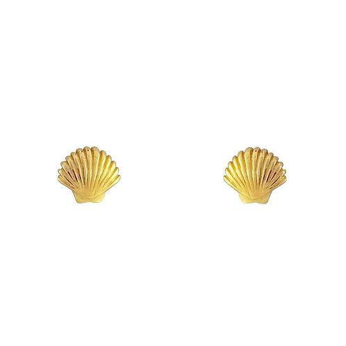 MIDSUMMER STAR | Gold Dainty Seashell Studs