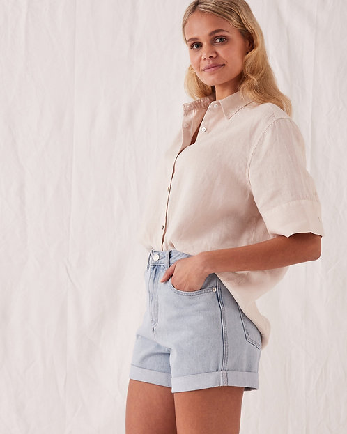 ASSEMBLY LABEL   Rolled Hem Shorts   Pacific Blue