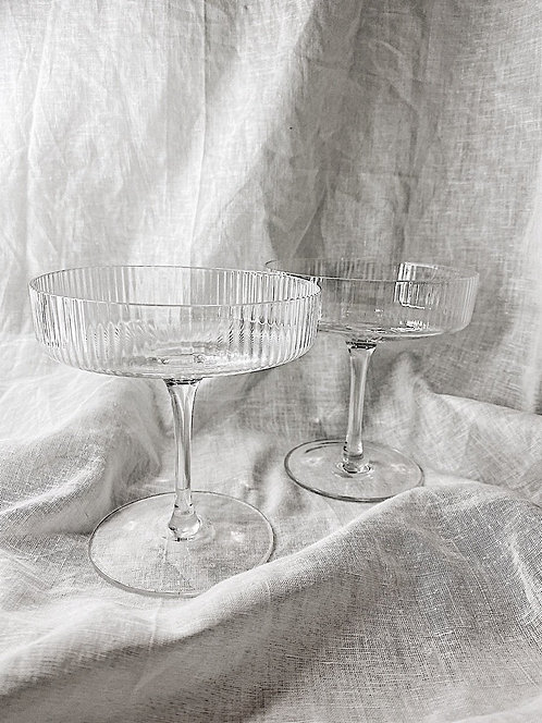 Ribbed Cocktail Glass   Set Of Two
