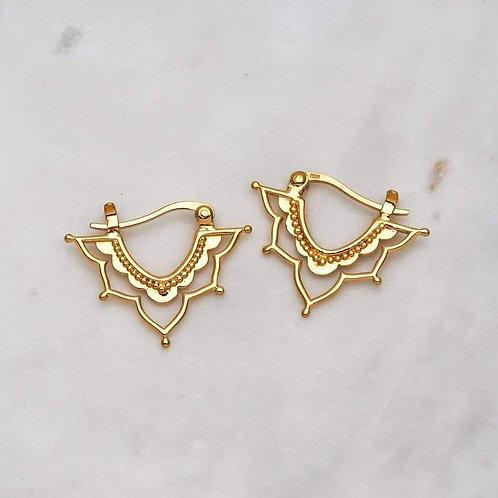 MIDSUMMER STAR | Gold Templum Sleeper Earrings