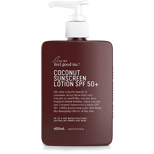 WE ARE FEEL GOOD INC. | Coconut Sunscreen SPF 50+ | 400ml